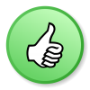 Green Thumbs Up Icon image #31144