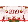 Greetings 2019 Happy New Year Decoration  File image #47289