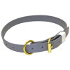 Grey Dog Collar Gold Metal Belt And Transparent Background image #48129