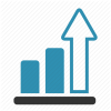 Growth Arrow Icon Arrow Chart Growth Progress image #3470