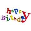 Happy Birthday  Clipart image #29895