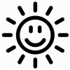 Happy Sun Face Icon image #16010