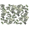 High Resolution Falling Money  Clipart image #49088
