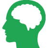 Human, Brain Icon, Green image #2522
