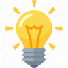 Ideas Light Bulb Icon image #12424