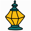 Islam, Islamic, Lamp, Ramadan Icon image #42072