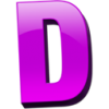 Letter D Vector Drawing image #8931