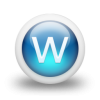 Letter W Save Icon Format image #8962