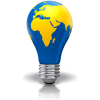Light Bulb World Map  Picture image #49008