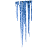 Long Matte Blue Icicle Picture image #48600
