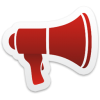 Megaphone Icon From Colorful Stickers Part 5 Set   256x256 Px image #318