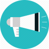 Megaphone, Message, News, Promotion, Speaker Icon thumbnail 3422