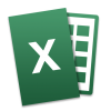 Microsoft Office Mac Tilt Excel Icon image #3392