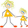Mother And Daughter Clipart image #41489