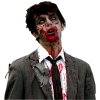 Mouth Neck Costume Zombie, Clip Art, Image image #48822