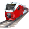 New Red Train Transparent Image image #47975