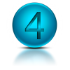 Number 4 Icon Symbol image #24756
