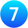 Vector Number 7 Icon thumbnail 24860
