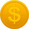 Orange Coin Us Dollar Icon image #3537