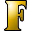 Orange Letter F Icon image #13265