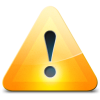 Orange Warning Icon image #2756