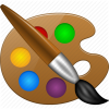 Paint Tools, Paintbrush, Painter, Template Icon image #3861