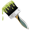 High Resolution Paintbrush  Clipart image #20017