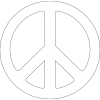Background Transparent Peace Sign image #19819