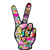 Peace Sign Vectors Download Free Icon image #19823