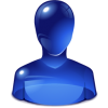Icon Person  Blue  Free image #7568