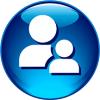 Icon Download Person  Blue image #7571