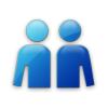 Person  Blue Save Icon Format image #7553