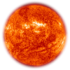 Picture Of Real Sun The Color Of Fire Red image #48208