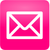 Pink Email Message Icon image #12048