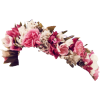 Pink Flowers Crown  Images Transparent image #42592