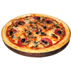 Olive Mixed Pizza Transparent Image image #19357