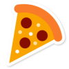 Pizza Slice Icon image #25589