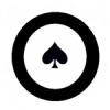 Poker Chip Black Icon image #43960