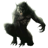 Primate Photograph Monster Drawing Clip Art, Image, Werewolf image #48842