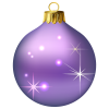 Purple Christmas Baubles image #32844