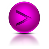 Purple Greater Than Sign Icon image #36382