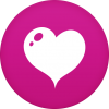 Purple Heart Circle Icon image #3350
