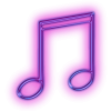 Purple Music Note Icon image #34250