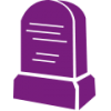 Purple Tombstone Icon image #4467