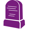 Purple Tombstone Icon image #4469