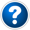 Question Mark Blue Button Icon image #41629