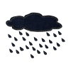 Cloud Rain Save Icon Format image #11059
