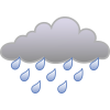 Cloud Rain Vector Icon image #11061