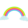 Rainbow With Clouds  Clipart image #6995