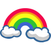 Rainbow With Cloud image #6992